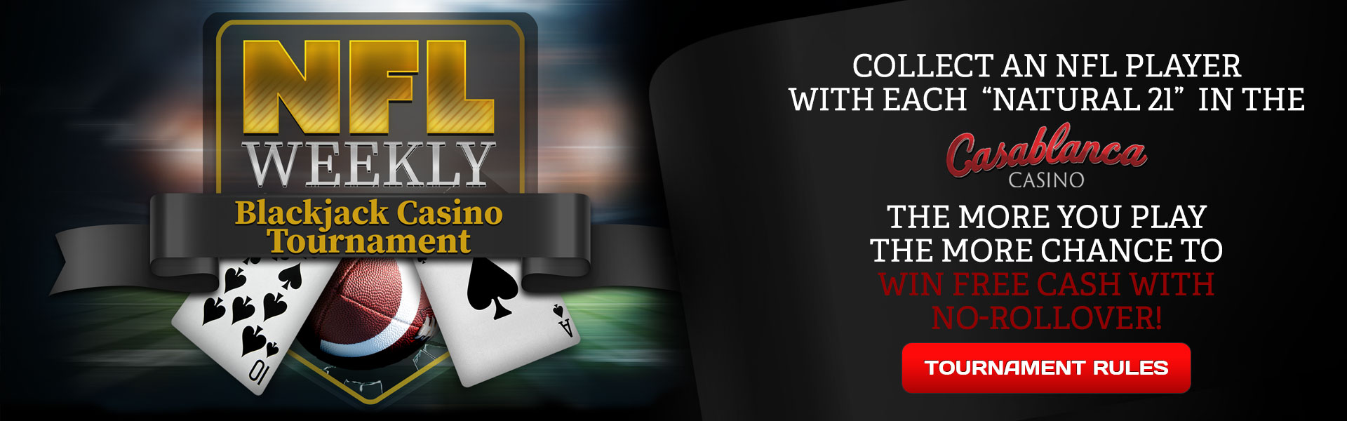 NFL Weekly Casino Blackjack Casino Tournament